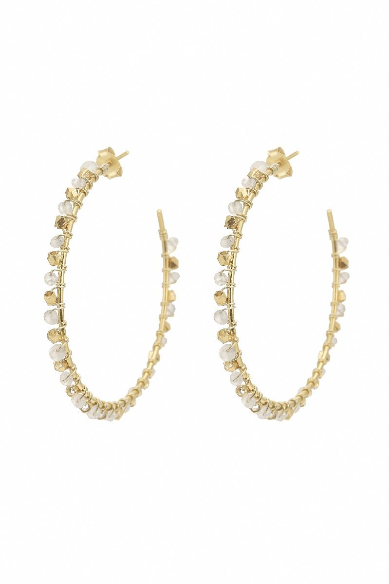 Ashiana London Riva Gemstone Hoop Earrings