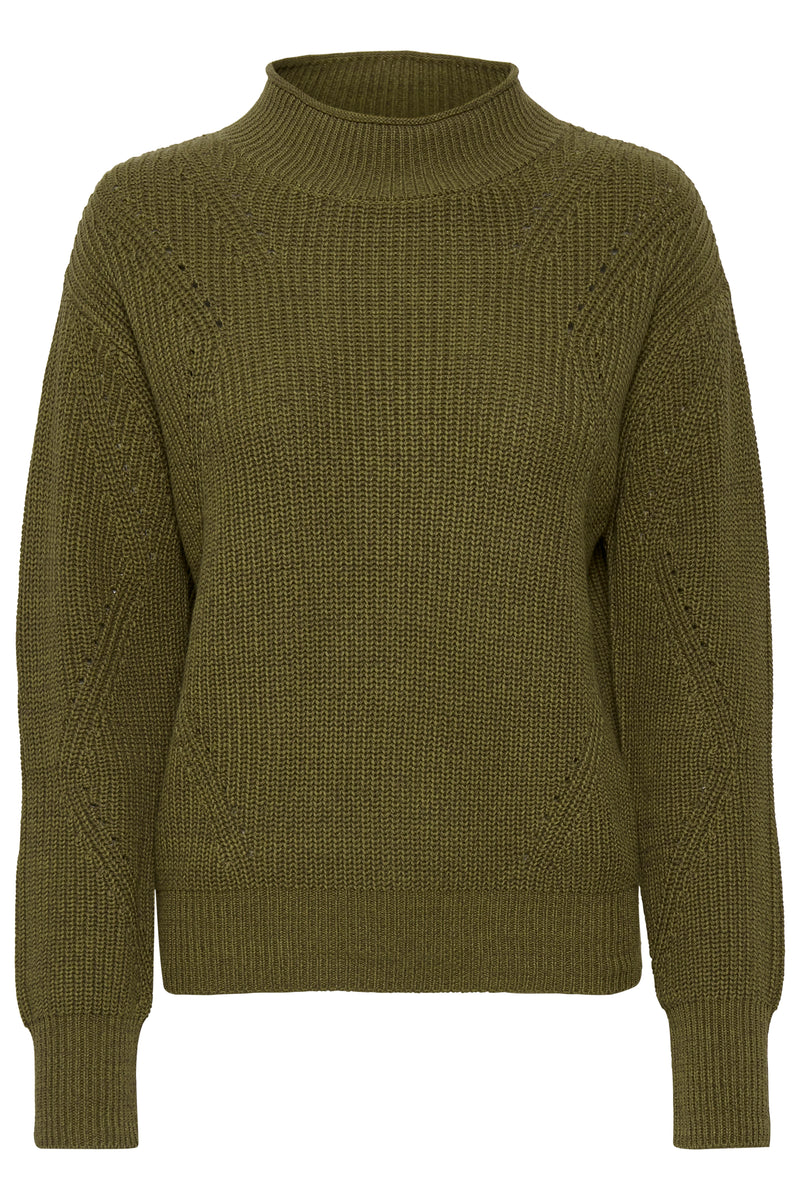 Soaked in Luxury Angelica Olive Green Jumper