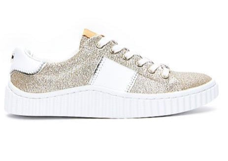 Philip Hog Mila Glitter Trainers - Gold