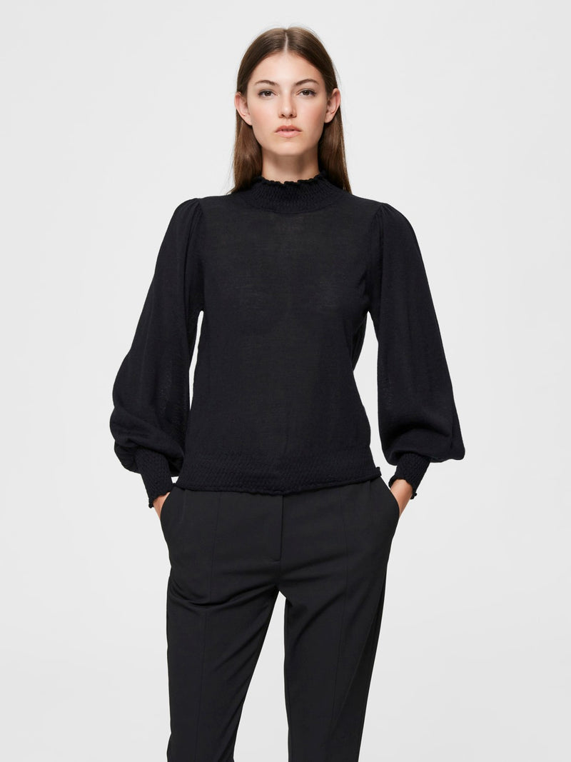 Selected Femme Tabita Jumper - Black