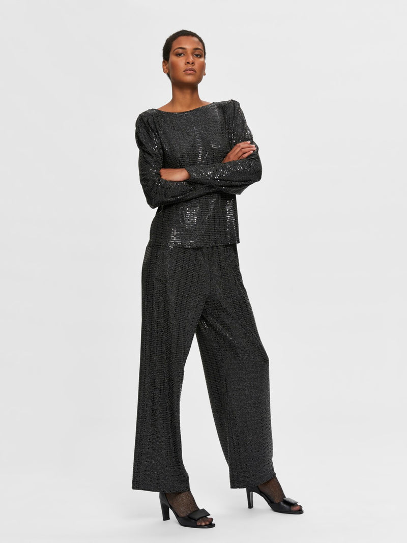 Selected Femme Andra Trousers - Black