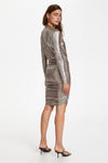 Soaked In Luxury Mieko Dress - Silver