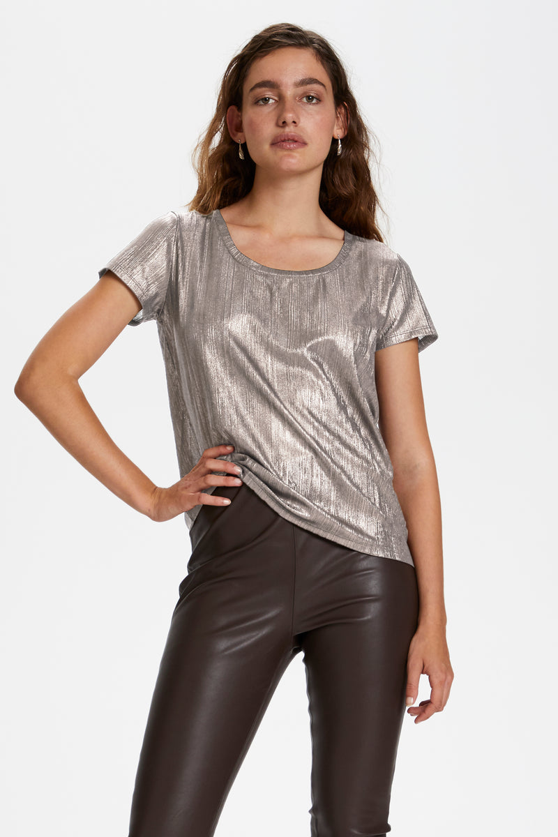 Soaked In Luxury Mieko Tee - Silver