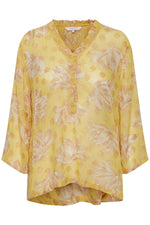 Part Two Blanca Lurex Blouse - Yellow