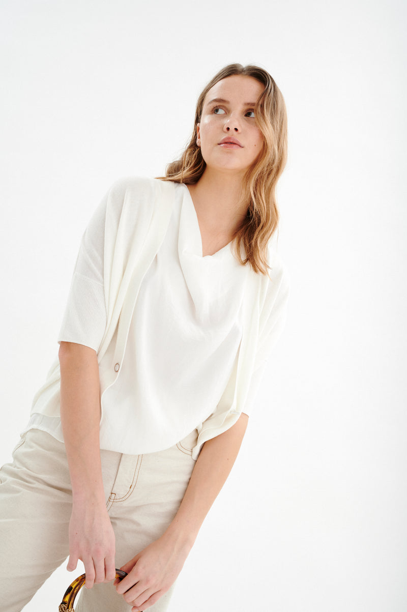 In Wear Bonnell Cardigan - White