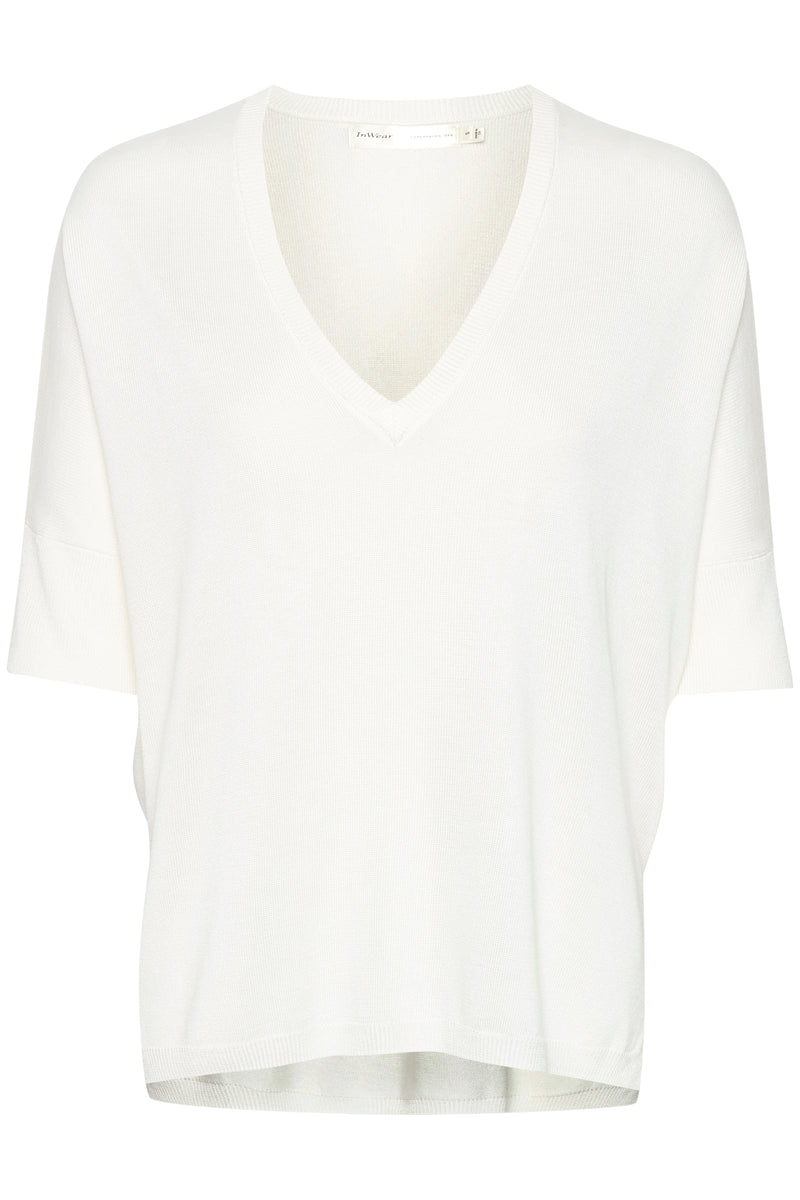 In Wear Bonelli Light Weight Knitted Tee - White