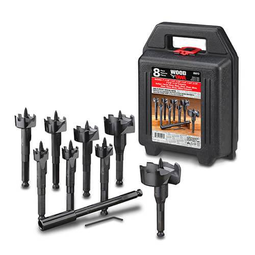 WoodOwl 8 Piece Self-Feed Boring Bit Set