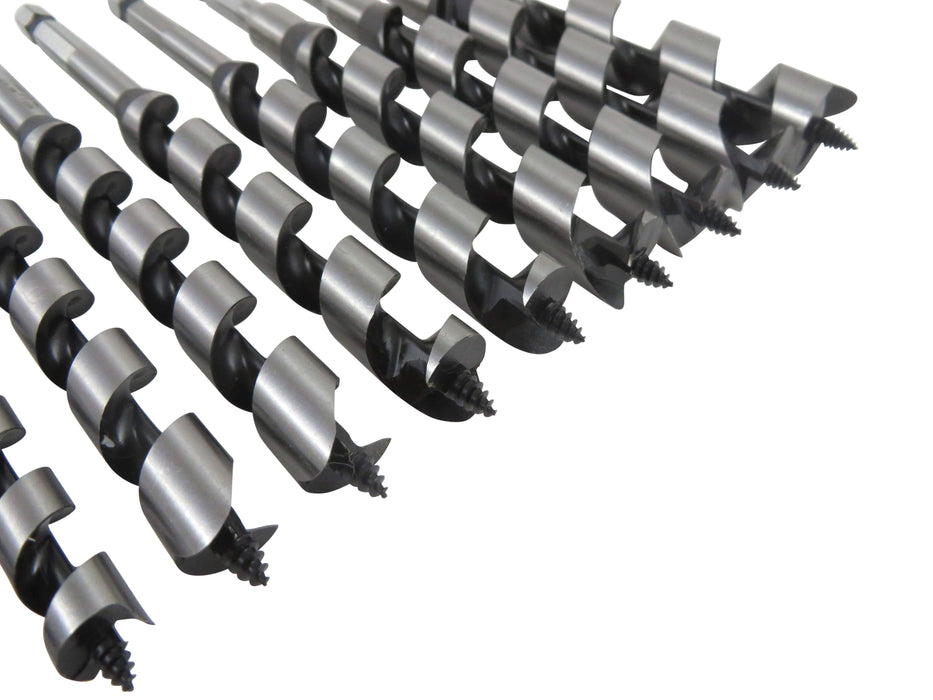WoodOwl 17 Piece Set No. 6 Standard Spurred Combination Augers