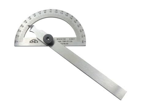 "Kinex 5-1/4"" (120mm) Stainless Steel Protractor"