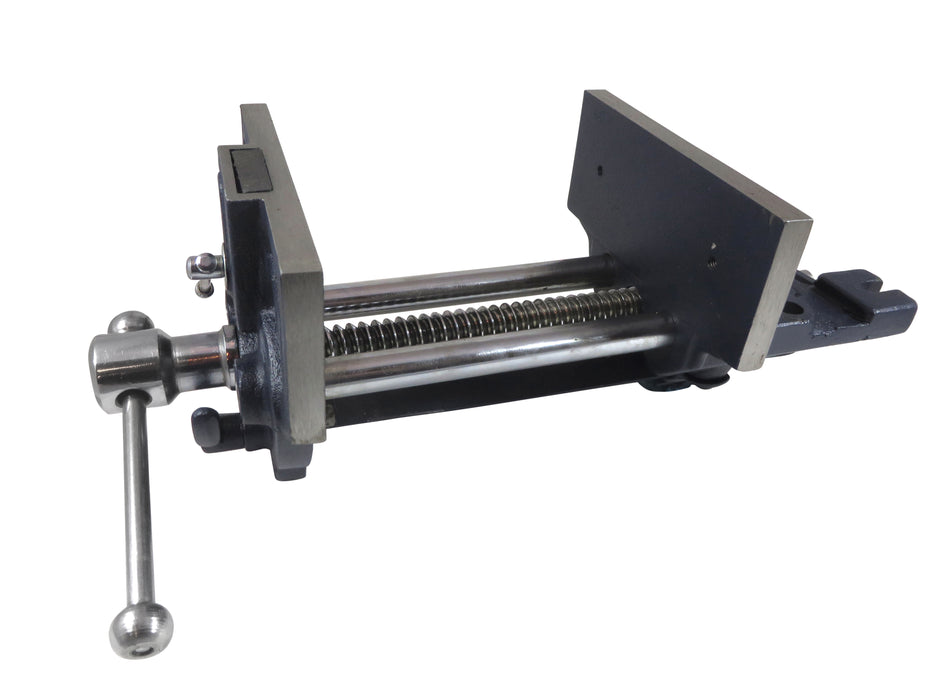"10"" Quick-Release Woodworking Vise Maximum Opening 15-1/2/"" Mounts Under Workbench"