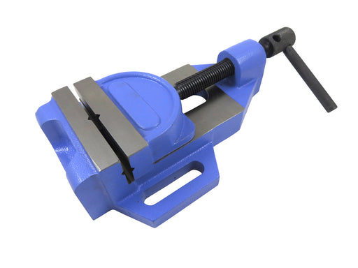 "Jaw Drill Press Vise, 4"" Wide Jaws, Max Opening 3-1/8"", Jaws Tilts 40 Degrees"