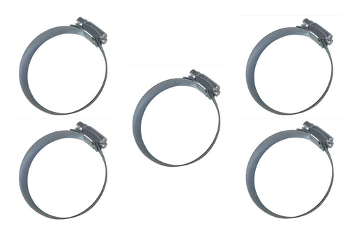 5 Piece Worm Drive Screw Hose Clamps