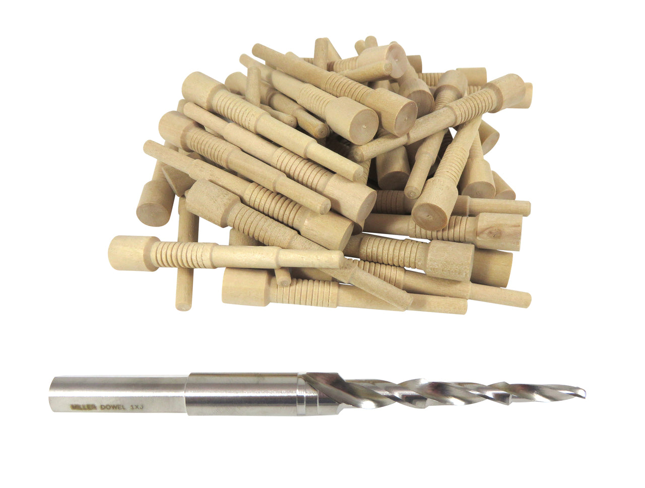 Miller Dowel 1X Starter Set with Stepped Bit and 50 Birch Dowels