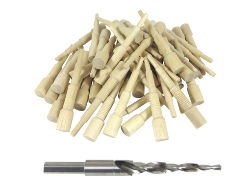 Miller Dowel 2X Starter Set with Stepped Bit and 50 Birch Dowels