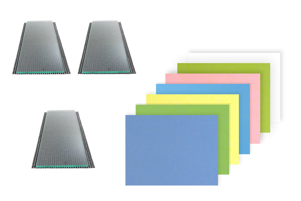 "Three sheets 5/16"" x 4-1/4"" x 10-1/4"" Float Glass and 7 Sheets 3M™ PSA Lapping Film"