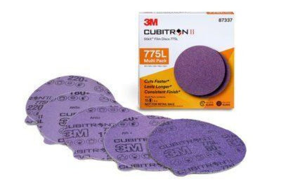 "3M™ 775L 5"" Sanding Discs 15 Disc Multi Pack Cubitron II ™ Stikit™ (PSA) Attachment No Holes"