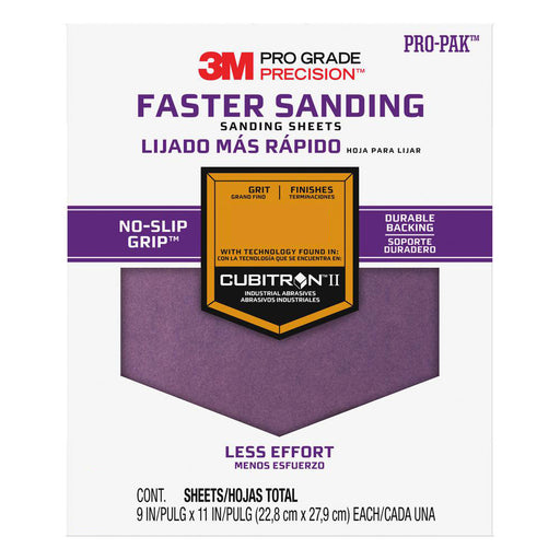 3M™ Pro Grade Precision™ Sanding Sheets with Cubitron II™ Technology No-Slip Grip™Backing