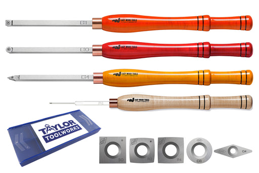 Easy Wood Tools Full-Size: Rougher, Finisher, Detailer; Parting Tool, 5 Cutters