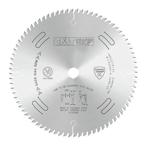 "CMT Orange Chrome Carbide Thin Kerf 10"" Ultimate Crosscutting Blade, 80 Teeth, Alternate Top Bevel Grind, 0.118"" Kerf 285.680.10"