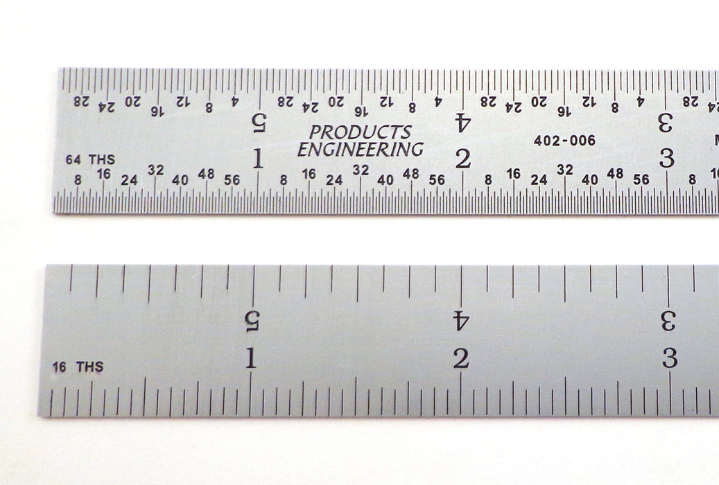 PEC Tools 4R Rigid Satin Chrome Rulers