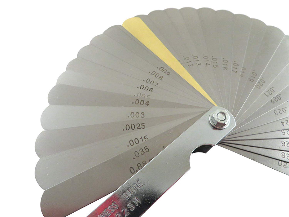 32 Blade Feeler Thickness Gauge (SAE and Metric)