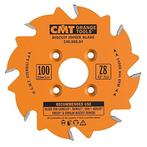 CMT 240.008.04 Biscuit Joiner Blade, 4-Inch Diameter x 8 Teeth, PTFE-Coated