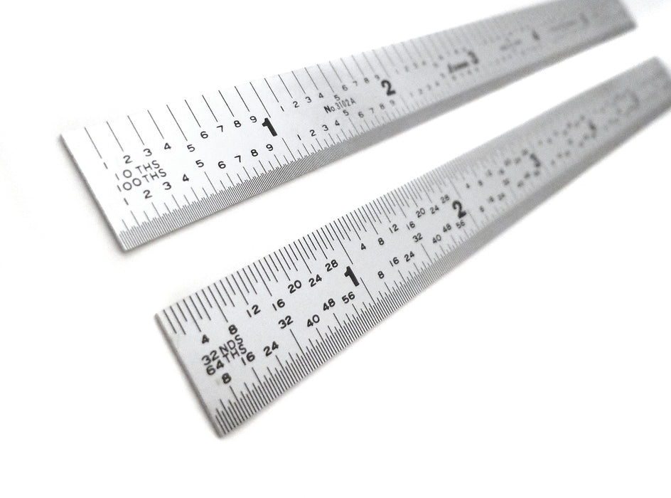 Shinwa 5R Flexible Satin Chrome Ruler