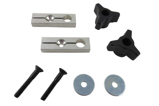 2 Piece Expandable Miter Gauge Slot Fixture Hold Down Kit
