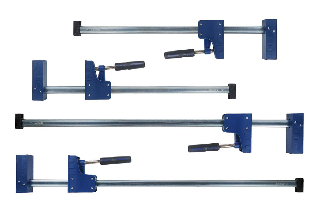 "4 Pack 2 Each 24"" & 48"" 90 Degree Parallel Bar Clamps"
