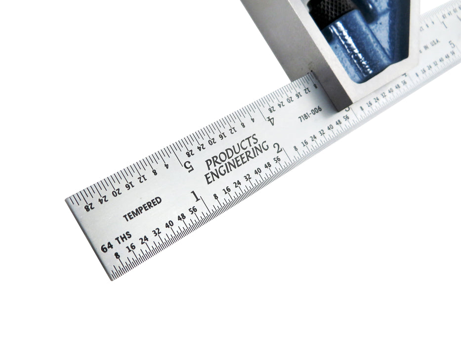 "PEC Tools 7121-006 6"" 4R 2 Piece Combination Square"