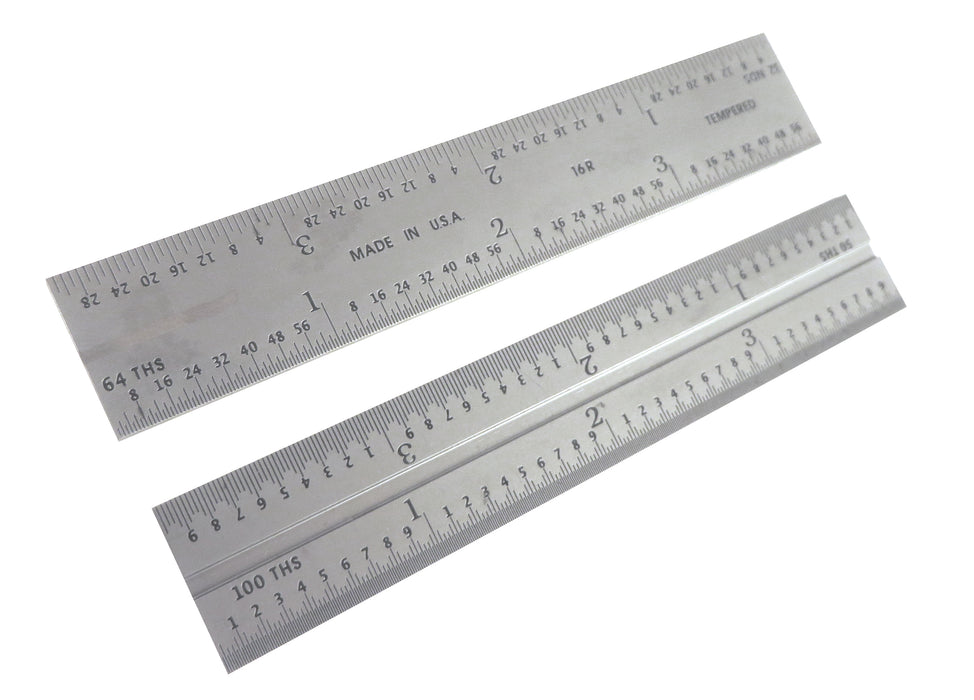 "PEC Blem Double / Combination Square Blades 16R (1/10, 1/50, 1/32, 1/64) 4""to 24"""