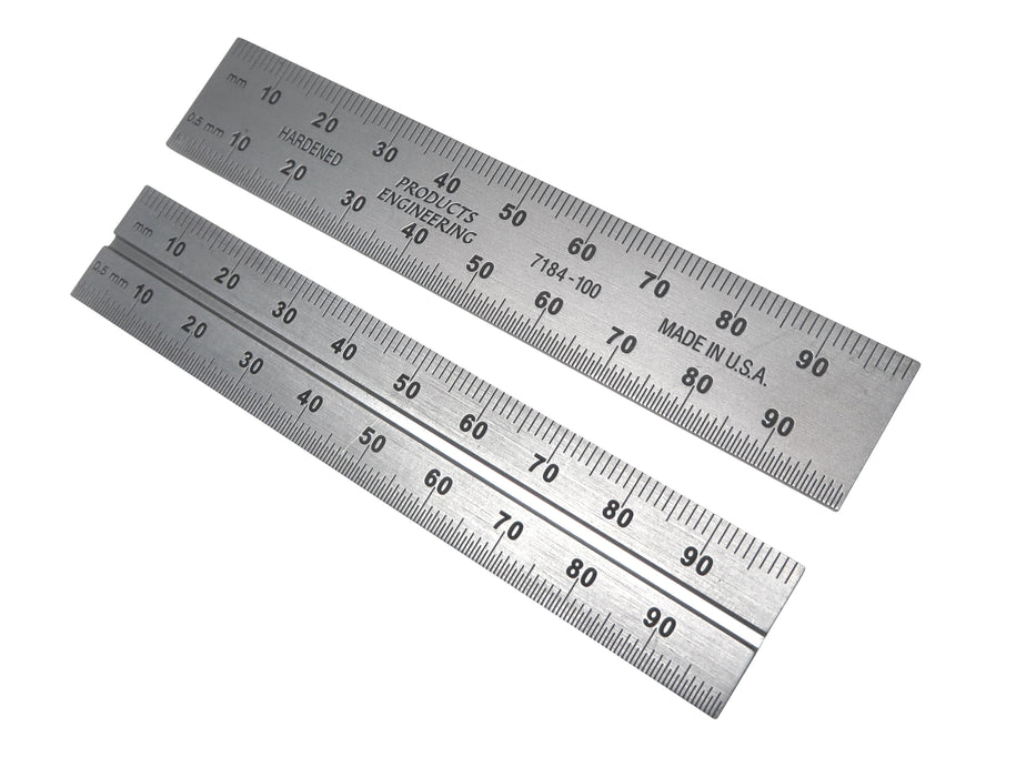 PEC Blem Double / Combination Square Blades Metric (.5mm, mm) 100 to 600 mm
