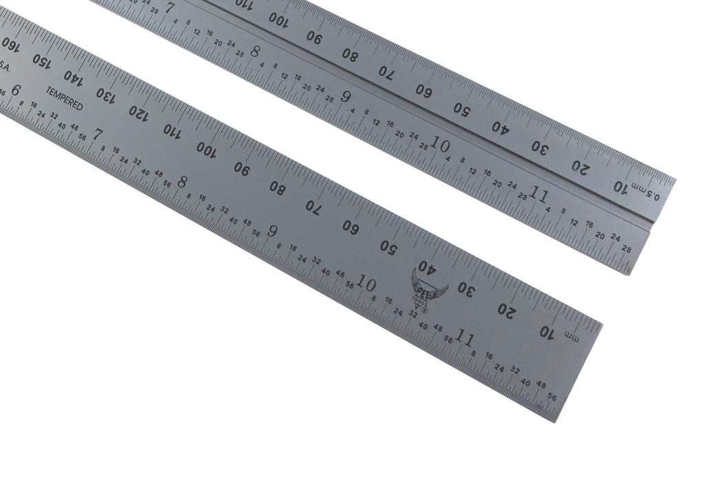 "PEC Blem Double / Combination Square Blades English/Metric (1/32, 1.64, .5mm, mm) 4"" to 24"""