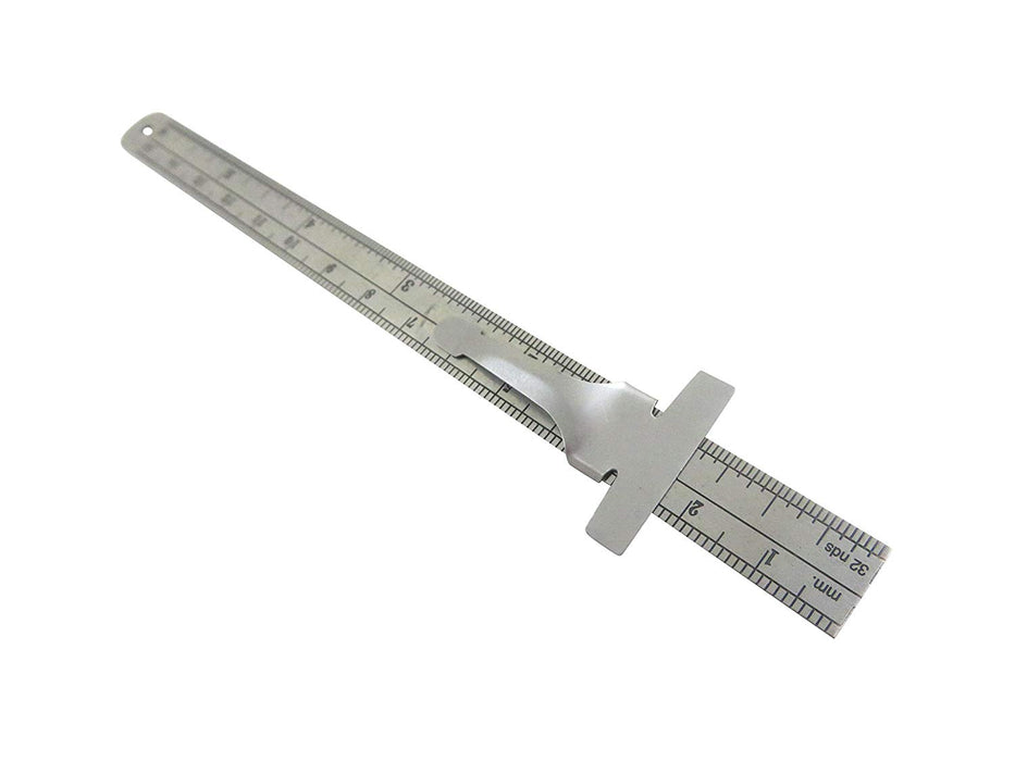 "6 Piece Measuring Kit with 6"" Dividers, Calipers, Depth Gauge"