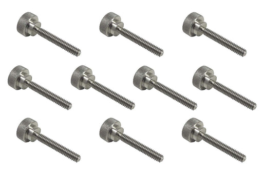 10 Piece 303 Stainless Steel Diamond Knurled Thumb Screw Sets