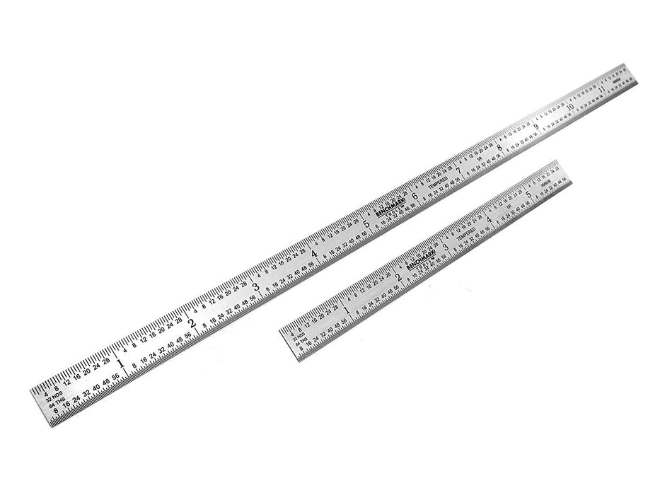 Benchmark Tools™ 2 Piece Flexible 5R Satin Chrome Ruler Sets