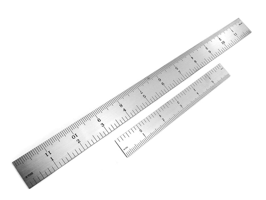 Benchmark Tools™ 2 Piece Rigid 4R Satin Chrome Ruler Sets
