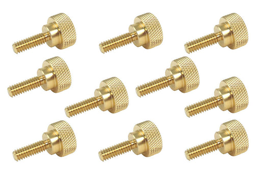 10 Piece Solid Brass Diamond Knurled Thumb Screw Sets