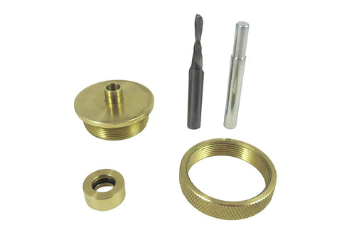 Router Inlay Kit Solid Brass 3 Piece Guide Bushing Set