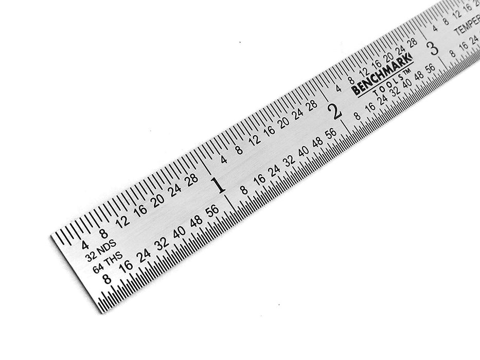 "Benchmark Tools™ Flexible 6"" 5R Brushed Steel Machinist Rulers"
