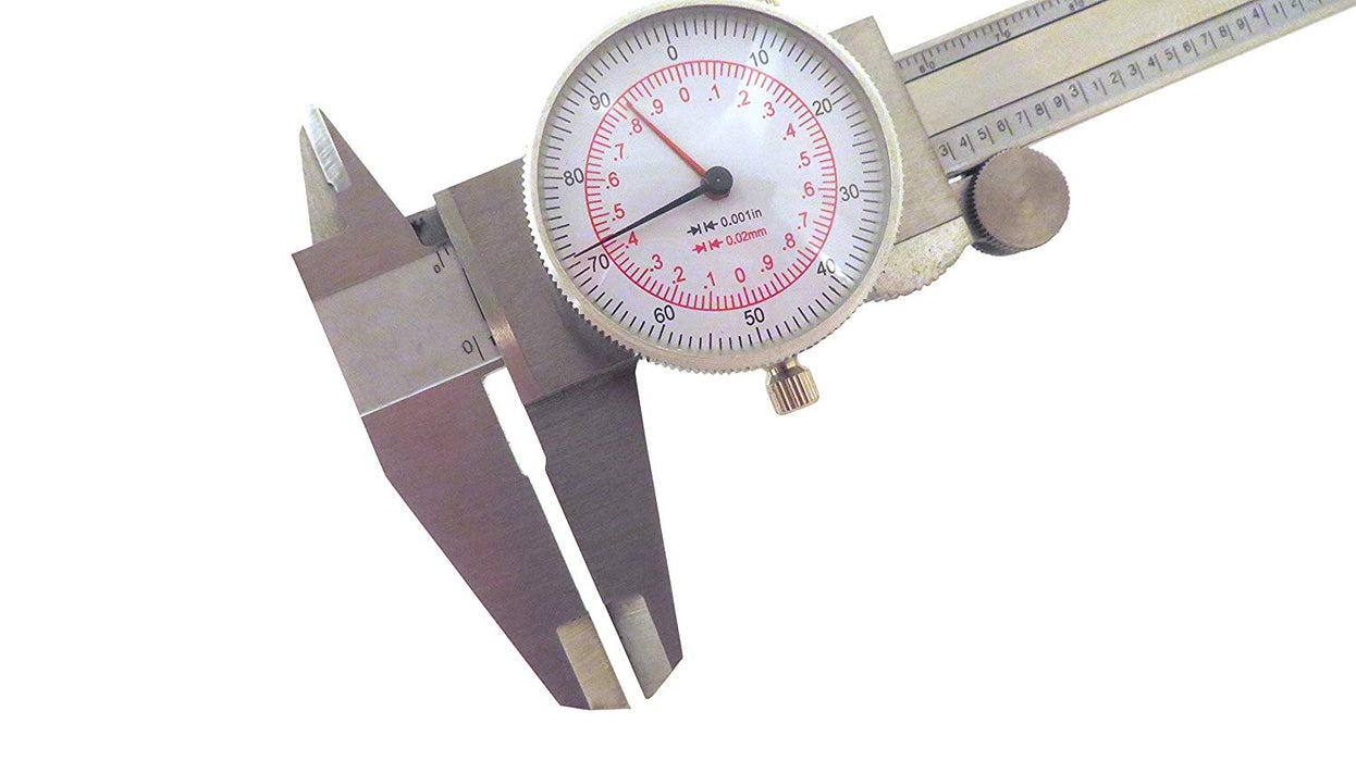 "6"" (150mm) Metric Imperial SAE Dual Reading Dial Caliper Stainless"