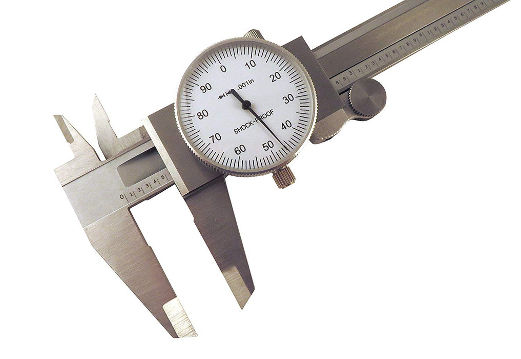 "6"" SAE Dial Calipers Stainless Steel for Inside, Outside, Step and Depth Measurements"