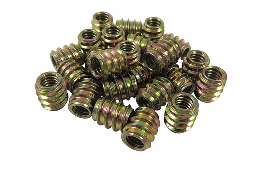 25 Pack Zinc Plated Threaded Inserts