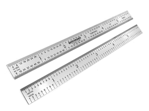 "Benchmark Tools™ Flexible 6"" 5R Satin Chrome Machinist Rulers"