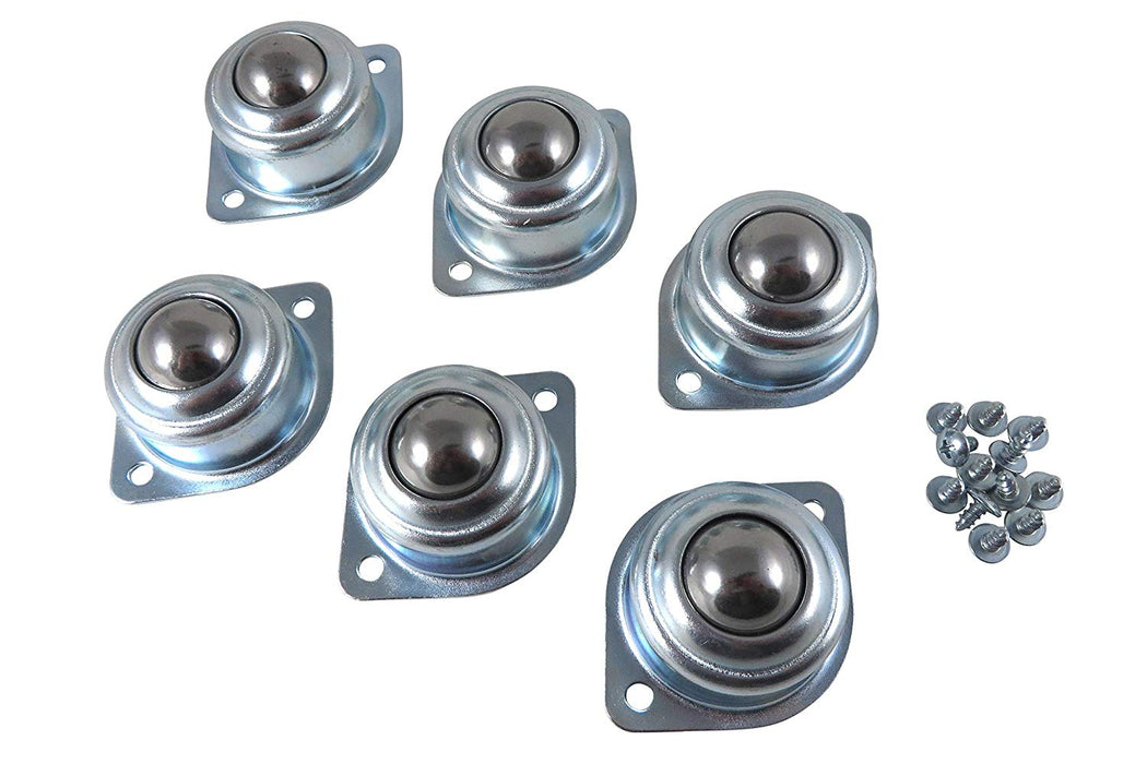 6 Piece Set of Roller Ball Bearing Transfer Bearings