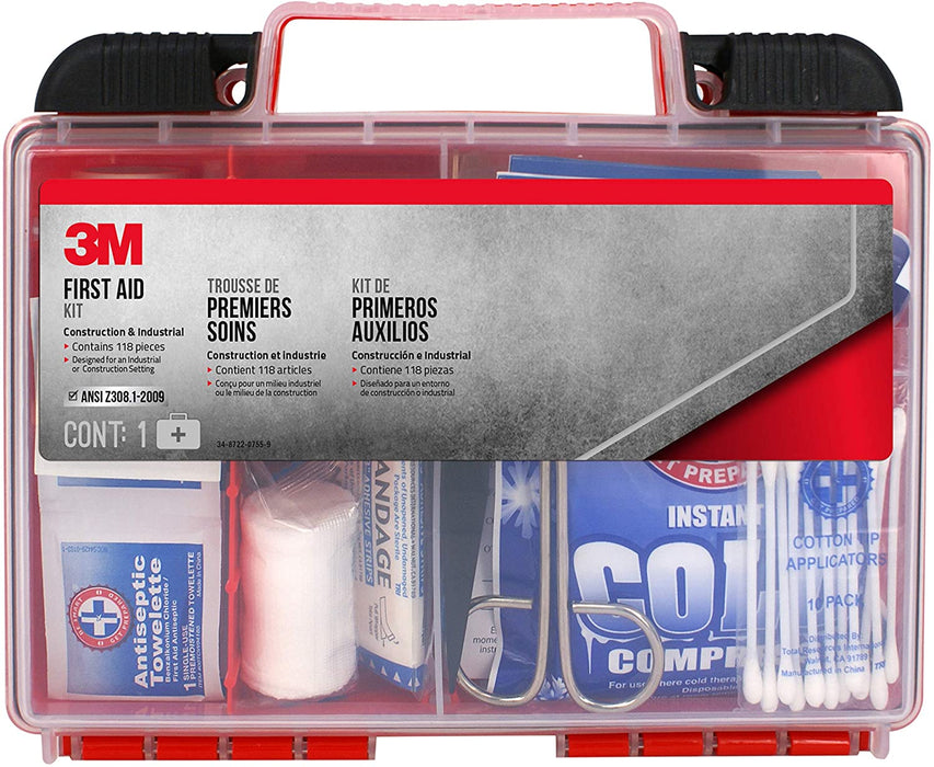 3M™ Construction Industrial Workshop First Aid Kit 118 pieces