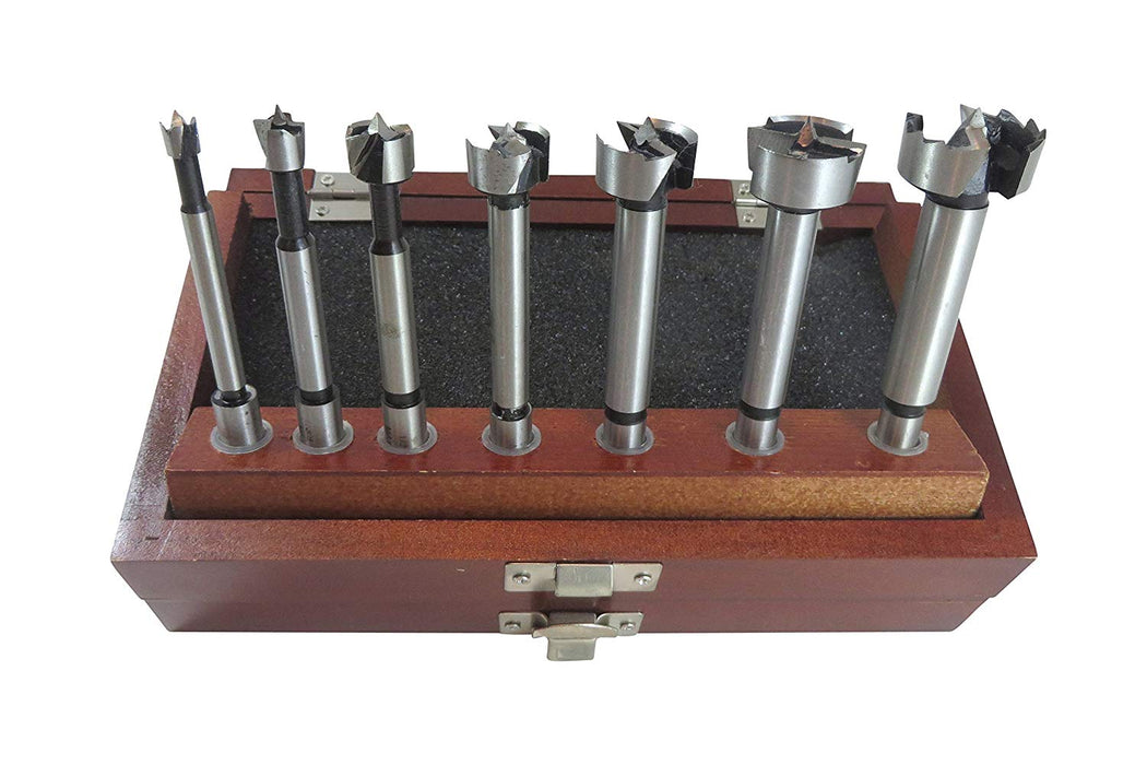 "7 Piece Forstner Drill Bit Set with Bits from 1/4"" to 1"""
