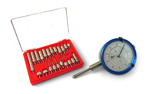 "SAE Dial Indicator 1"" Travel and 22 Piece Anvil Point Set"
