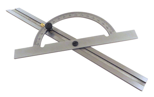 "12"" Hardened Steel Protractor Sliding Bevel Gauge"