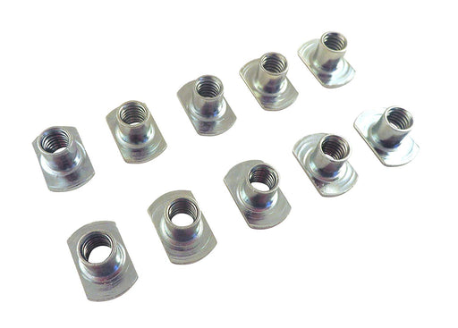"Lot of 10 Each Sliding Tee T Nuts 1/4"" x 20 TPI"